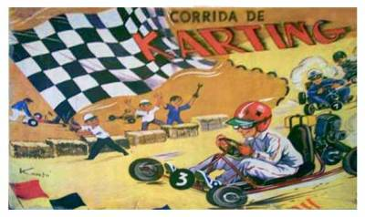 corrida karting karto