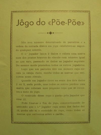 """Jôgo do """" Pôe- Pôe"""""""